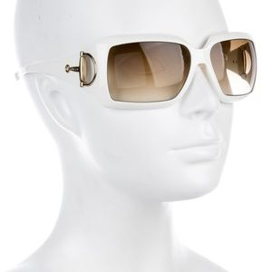 Gucci - Horsebit White Silver Sunglasses 2562